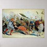 Circus Clowns Vintage Art Poster