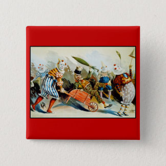 Circus Clowns - Vintage Fine Art Button