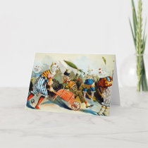 Circus Clowns - Vintage Fine Art Card