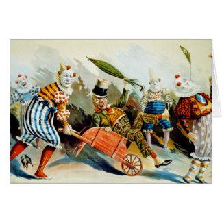Circus Clowns - Vintage Fine Art Card