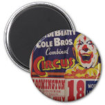 Circus, 'Clyde Beatty and Cole Bros' Retro Theater Refrigerator Magnet