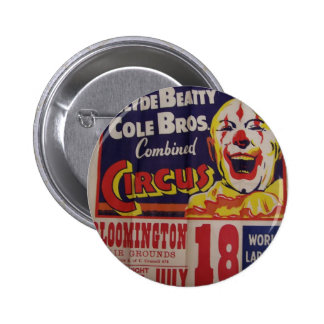 Circus, 'Clyde Beatty and Cole Bros' Retro Theater Pinback Button