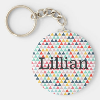 Circus Color Triangles Keychain