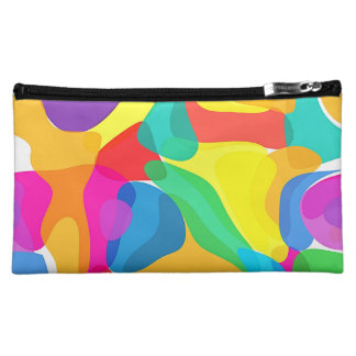 Circus Colors Chaos Abstract Art Pattern Cosmetic Bags