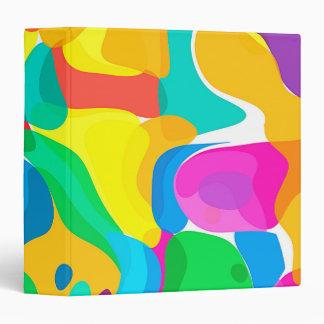 Circus Colors Chaos Abstract Art Pattern Binder