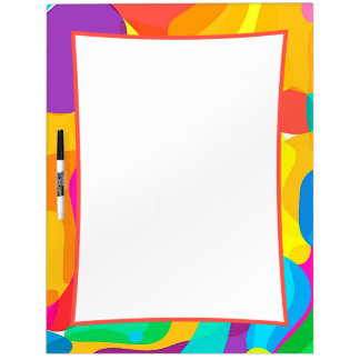 Circus Colors Chaos Abstract Art Pattern Dry Erase Board