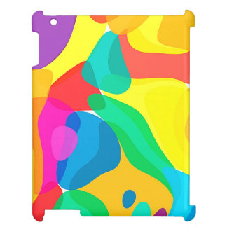 Circus Colors Chaos Abstract Art Pattern iPad Covers