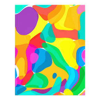 Circus Colors Chaos Abstract Art Pattern Letterhead