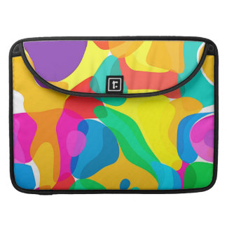 Circus Colors Chaos Abstract Art Pattern MacBook Pro Sleeves