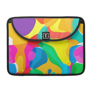 Circus Colors Chaos Abstract Art Pattern Sleeve For MacBook Pro