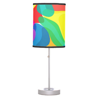 Circus Colors Chaos Abstract Art Pattern Table Lamps