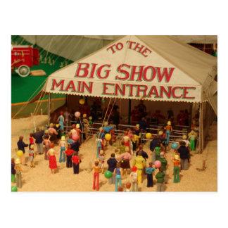 Circus Comes To Town Postcard