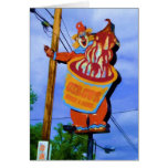 Circus Conies and Cones sign on US 40, Indiana Greeting Cards