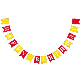 Circus Cute Colorful 1st Birthday Party Theme Bunting Flags