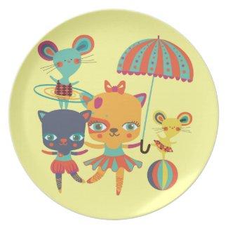 Circus Cuties Plate