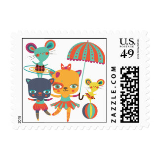 Circus Cuties Postage Stamp