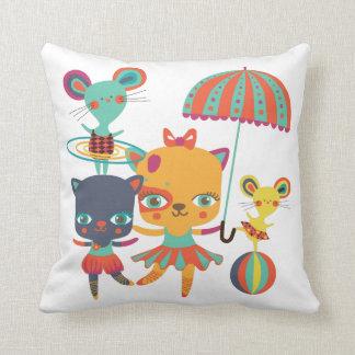 Circus Cuties Throw Pillow