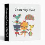 Circus Cuties Vinyl Binders