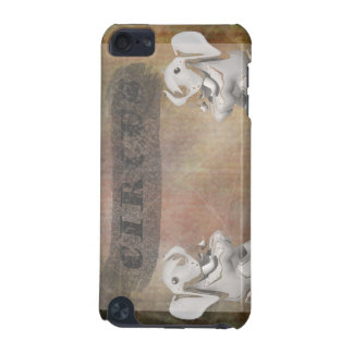 Circus design, text and elephants in corner iPod touch (5th generation) case