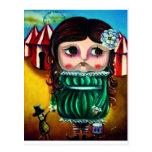 circus doll postcard