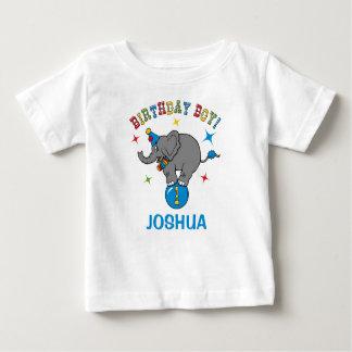 Circus Elephant 1st Birthday Baby T-Shirt