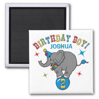 Circus Elephant 2nd Birthday Magnet