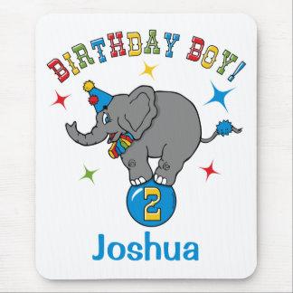 Circus Elephant 2nd Birthday Mouse Pad