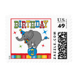 Circus Elephant 3rd Birthday Stamp