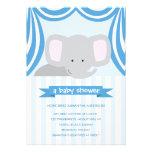Circus Elephant Baby Shower Inviation - Boy Invite