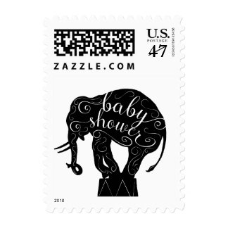 Circus Elephant Baby Shower Stamps