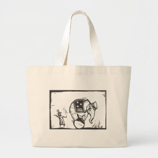 Circus Elephant Canvas Bag