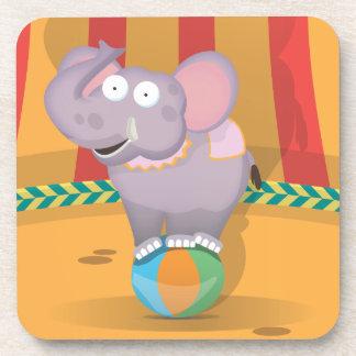 Circus Elephant Beverage Coaster