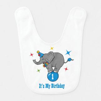 Circus Elephant Birthday Baby Bib