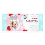 Circus Elephant Birthday Invitation Pink