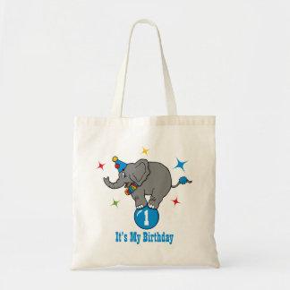 Circus Elephant Birthday Tote Bag