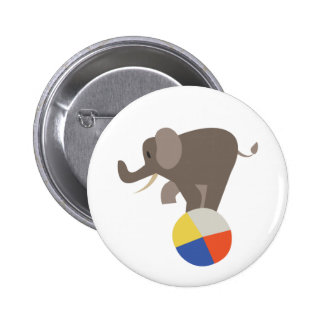 Circus Elephant 2 Inch Round Button