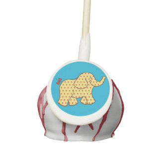 Circus Elephant Cake Pops