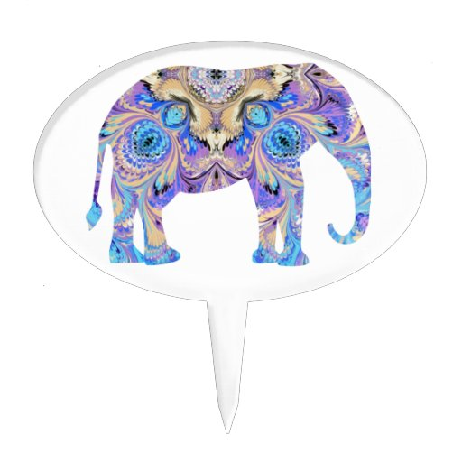 Circus elephant cake topper - photo#14