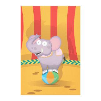 Circus Elephant Canvas Print