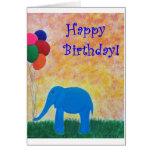 Circus Elephant Card