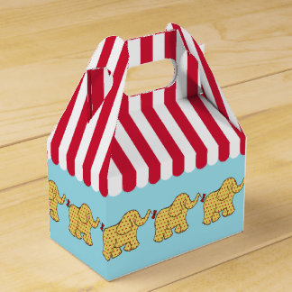 Circus Elephant Carnival Tent Kids Party Favor Box