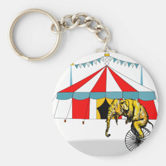 Circus Elephant Gifts Basic Round Button Keychain