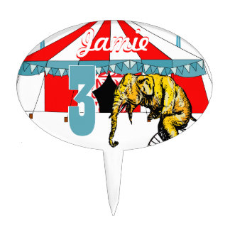 Circus Elephant Gifts Cake Topper