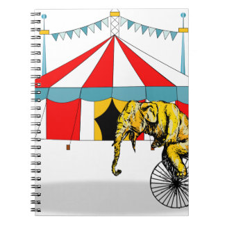 Circus Elephant Gifts Note Book