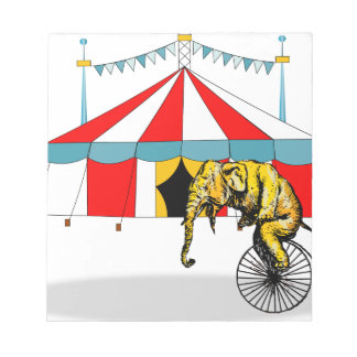 Circus Elephant Gifts Notepad