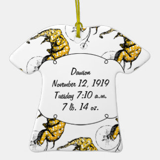 Circus Elephant Gifts Double-Sided T-Shirt Ceramic Christmas Ornament