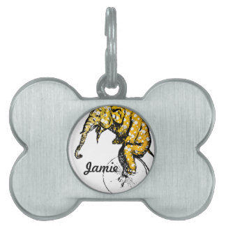 Circus Elephant Gifts Pet Tag