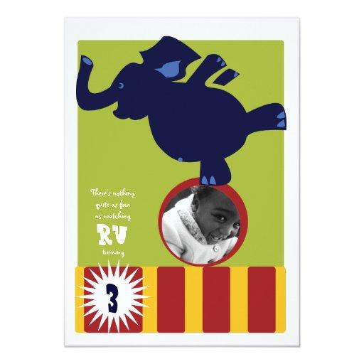 Circus Elephant Invite