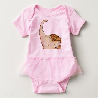Circus Elephant loves to read Baby T-Shirt