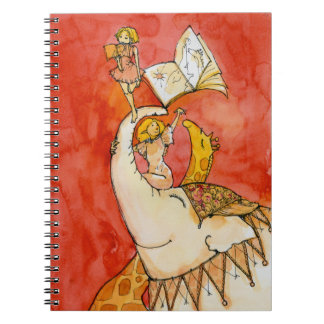 Circus Elephant loves to read Notebook